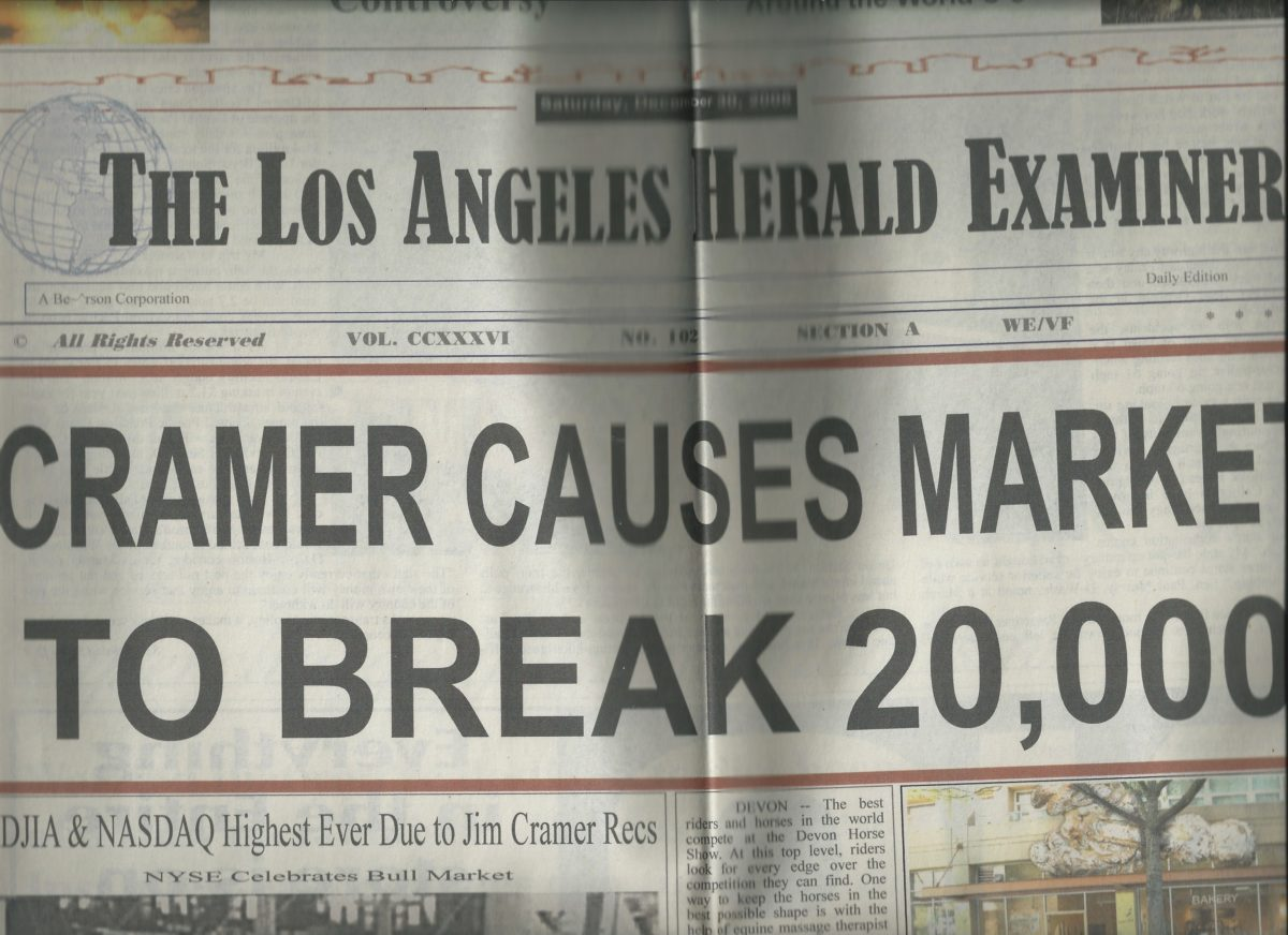 """Jim Cramer Causes Market to Break 20,000"""