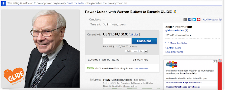 How Would You Like to Have Lunch with Warren Buffett? Here's How!